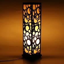 001 9 600x600 wooden carved floor lamp 26 inch indoor lighting home decorative