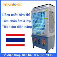 Quạt điều hòa hơi nước PH-6000CN Inverter Quạt THÁI siêu mát 100% Tặng 2  viên đá khô PENHOSE