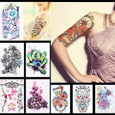 719 8ks Dreamcatcher Květina Rukáv Zpět Přes Rameno Tetování Dočasné Kylin čínský Drak ženy Body Art Tattoo Nálepka Papír