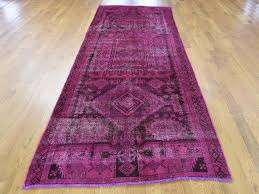3 10 x10 10 overdyed persian hamadan wide runner worn down hand knotted oriental rug cwr40416