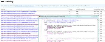 xml sitemap and source code