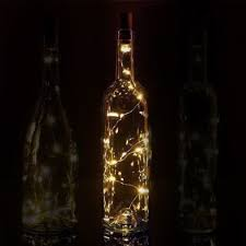 3 ft 20 super bright warm white led battery operated wine bottle lights with cork diy
