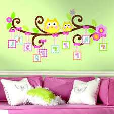 pink wall decals for nursery lovely uni kids room with pink bed and white cushions and