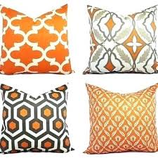 orange accent pillows. Burnt Orange Decorative Pillow Pillows Throw Cover And Beige . Accent