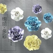 ceramic flower wall art ceramic wall flowers big ceramic roses decorative wall flower dishes porcelain decorative ceramic flower wall art