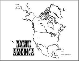 Clip Art North America Map Coloring Page Blank I Abcteach Com