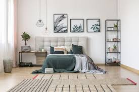 bedroom with plants or a botanical theme