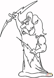 Small Picture Zeus coloring page Free Printable Coloring Pages
