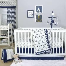navy blue crib bedding set the peanut anchor collection in white nursery baby newborn shower gift
