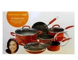 rachael ray pan set. Plain Ray Rachael Ray 10piece Nonstick Aluminum Cookware Set  Red For Pan C