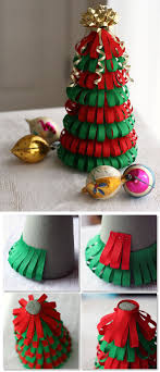 DIY Ribbon Christmas Tree - would be cute with glitter ribbon too #holiday # decoration