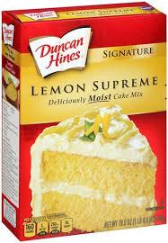 Duncan Hines Signature Lemon Supreme Cake Mix 432g For Sale Online