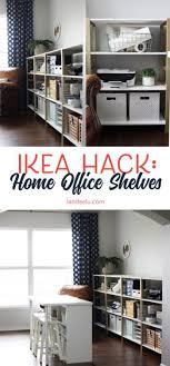 office shelves ikea. Over 11 Linear Feet Of Chic Shelving Made From Super Cheap IKEA Storage  Shelves! This Office Shelves Ikea E