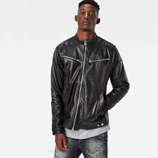 g star raw mower slim leather jacket in black g star men g star shoes g star rovic shorts innovative design