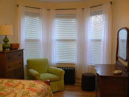 awesome bay window curtain rod