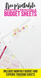 Printable Budgeting Sheets The Ultimate List Of Budgeting Printables From Pinterest