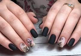 Si buscas nuevos diseños de uñas acrilicas negras mate o con dorado. 22 Super Disenos Con Imagenes De Unas Acrilicas Negras Mate