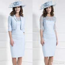 Light Blue Dresses For Mother Of The Bride Mother Of The Bride Gown 2016 Modest Lace Sheath Mother Off