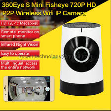 EC5 720P Fisheye P2P WIFI IP Camera CCTV DVR Remote Surveillance on