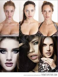 victoria s secret models without make up