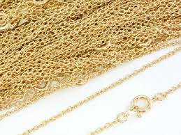 22ct <b>Gold</b> Plated Necklace Trace Chain 18 Inch 4PC <b>10PC</b>   Etsy