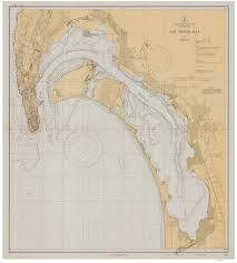 San Diego Bay 1931 Nautical Map Reprint Pc Harbors 5107 California
