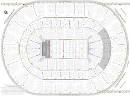Bridgestone Arena Detailed Seating Chart Detailed Seat Row Numbers End Stage Concert Sections Floor