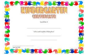 Kindergarten Promotion Certificate Template Kids Diploma Design