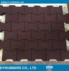 china shock proof recycled rubber material rubber dog bone tile interlock rubber floor tile china rubber floor rubber tile