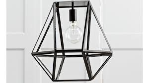 hex large pendant black