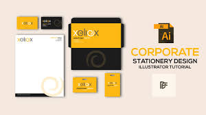 Office Stationery Design Templates How To Design Corporate Office Stationery In Adobe Illustrator With Template