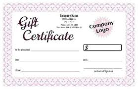 Microsoft Word Gift Certificate Template Microsoft Word Certificates Word Gift Certificate Template