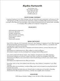 Front Desk Resume Stunning Front Office Manager Resume 28 Gahospital Pricecheck