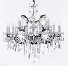 g83 b27 995 18 gallery chandeliers 19th c rococo iron crystal chandelier lighting h 28 x w 30