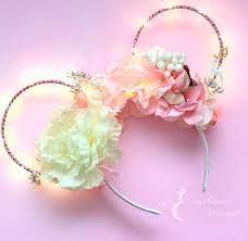 rose gold wire mickey ears headband