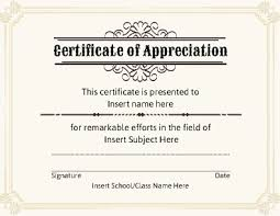 free templates for certificates of appreciation certificate of appreciation template free free certificate templates