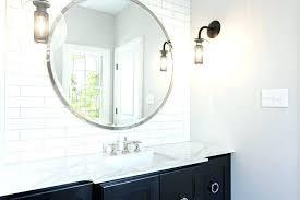 vanity mirror large round with black bath countertop lights