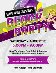 Block Party Flyers Templates White Block Party Flyer Template Postermywall