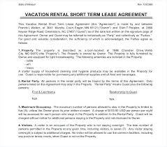 Free Lease Agreement Template South Commercial Sample Short Term ...