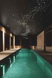 Indoor Pool With Star Lighting Ideas