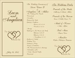 Free Printable Wedding Ceremony Programs Free Printable Wedding Programs Templates Sample Wedding