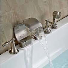 bathtub faucet and shower head. deck mount bathtub faucet with handheld shower head and n