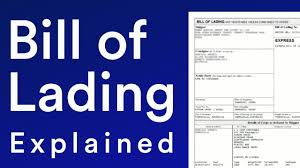 bill of loading a bill of lading explained for global trade