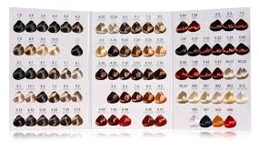 Copper Red Hair Color Chart Light Copper Red Blonde 8 46