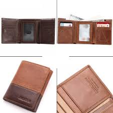 Online Shop New 3 Fold Genuine Leather Men <b>Wallet</b> Small Men ...