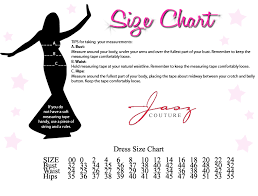 Mm Couture Size Chart Jasz Couture Size Chart