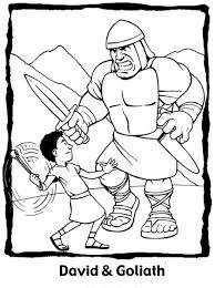 David And Goliath Coloring Page Education Sunday School Coloring
