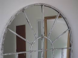 garden mirrors. Large Off White Rustic Arch Garden Wall Mirror 2Ft7 X 1Ft8 (79cm Mirrors