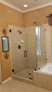 shower door with return panel