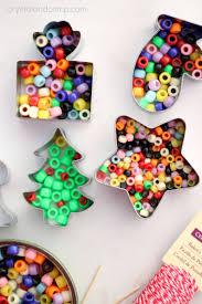 Christmas Crafts For Kids To Make Handmade Beaded Christmas Ornaments